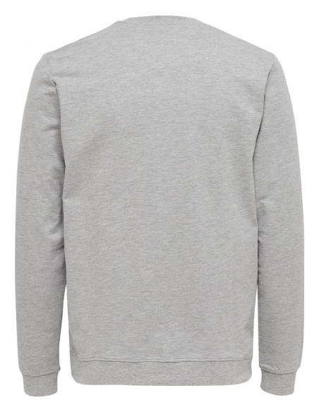 sweat Only&Sons gris Onsmichael crew neck sweat