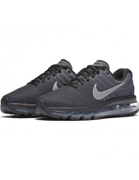 chaussure enfant Nike gris Boys' nike air max 2017 (gs) running shoe 851622-001