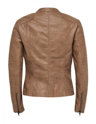 veste Only marron Onlava faux leather biker otw noos