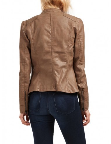 veste perfecto Only marron Onlava faux leather biker otw noos