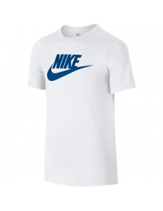 tee-shirt enfant Nike blanc Boys' nike futura icon training t-shirt 739938-105