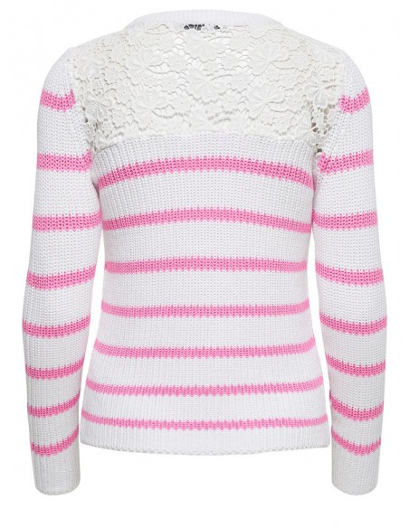 pull Only rose Onlfilina l/s lace pullover knt