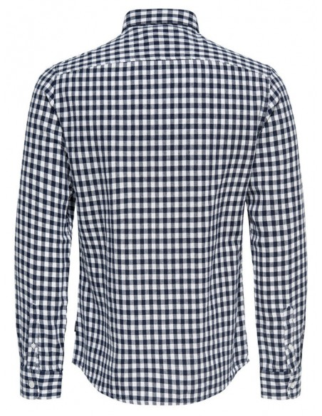 chemise manches longues Only&Sons blanc Onsr nasir ls checked shirt