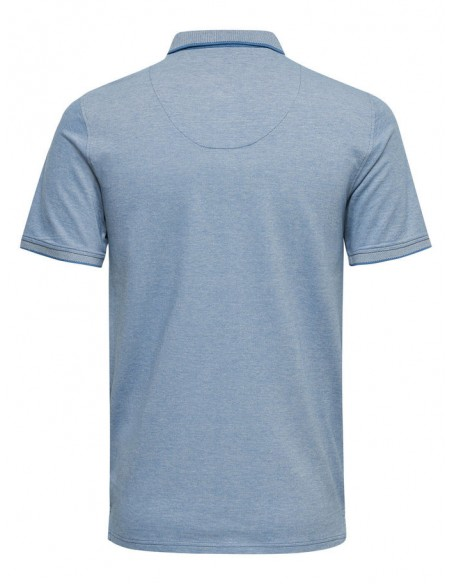 polo Only&Sons bleu clair Onsstan ss fitted polo tee noos