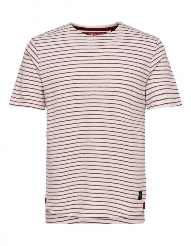 tee-shirt homme Only&Sons blanc Onsbastian ss slim tee