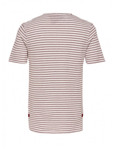 t-shirt homme Only&Sons blanc Onsbastian ss slim tee