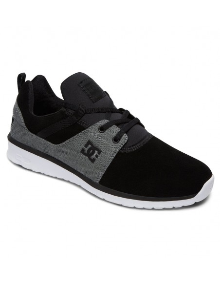 basket homme DC SHOES noir Heathrow se ADYS700073-BW8