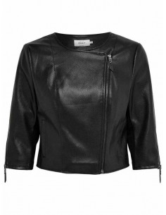 veste femme Only noir Onlmila crop faux leather biker otw