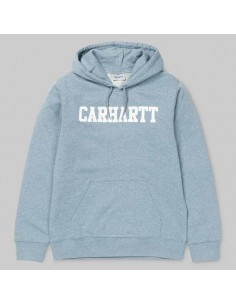 sweat homme Carhartt bleu Hooded college sweat