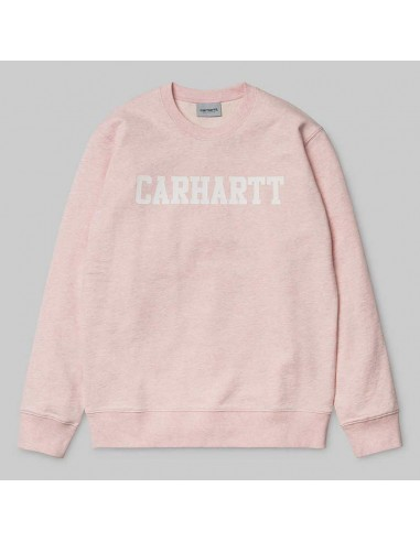 sweat homme Carhartt rose College sweat