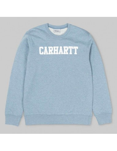 sweat homme Carhartt bleu College sweat
