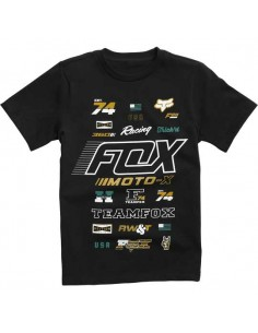 t-shirt enfant Fox noir Youth edify ss tee 21002-001