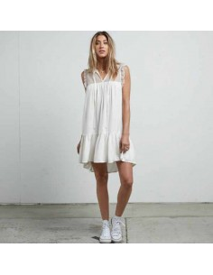 robe Volcom blanc Sea y'around dress