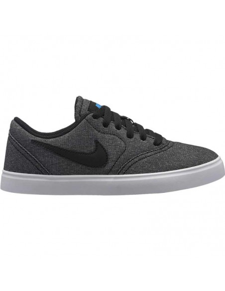Boys' nike sb check canvas (gs) skateboarding shoe 905373-008
