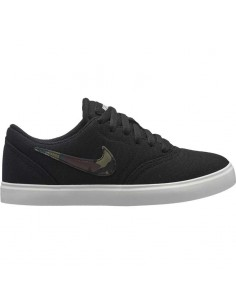 Boys' nike sb check canvas (gs) skateboarding shoe 905373-010