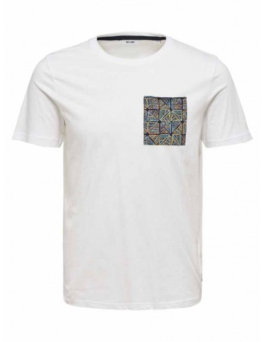 tee-shirt homme Only&Sons blanc Onsdedrick fitted tee