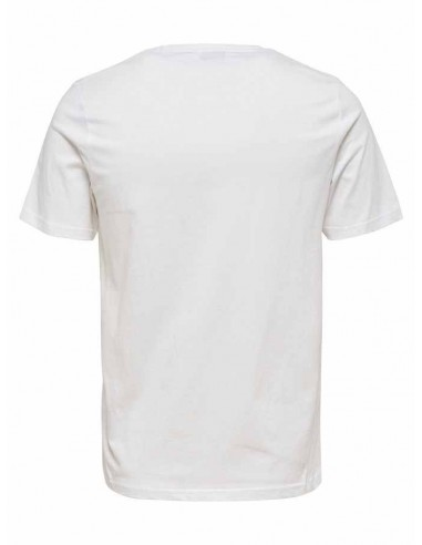 t-shirt homme Only&Sons blanc Onsdedrick fitted tee