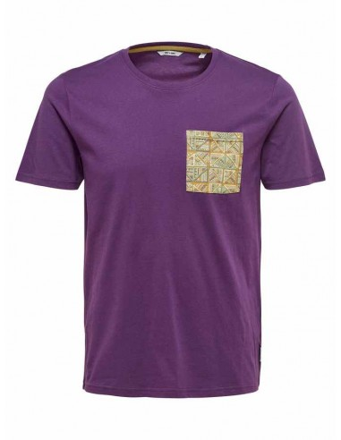 tee-shirt homme Only&Sons violet Onsdedrick fitted tee