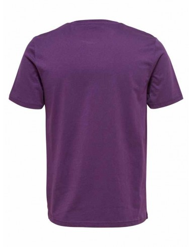 t-shirt homme Only&Sons violet Onsdedrick fitted tee