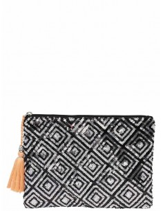 pochette femme Only noir Onlnizza sequence clutch acc