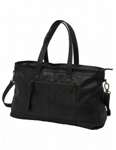 sac femme Only noir Onlbust leather travel bag acc