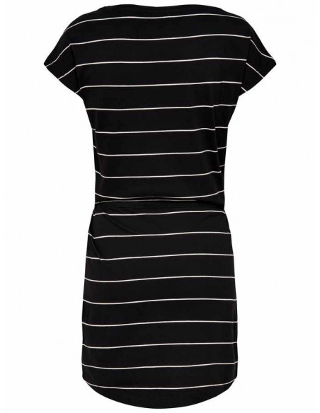 Robe Only noir/blanc Onlmay s/s dress noos