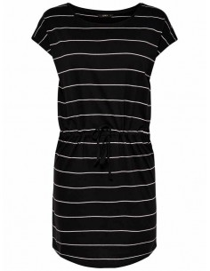 Robe femme Only noir/blanc Onlmay s/s dress noos