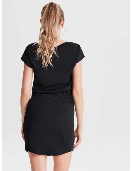 Robe courte Only noir Onlmay s/s dress noos