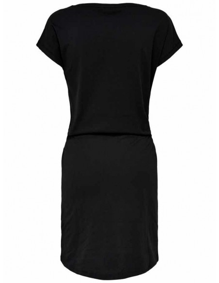 Robe Only noir Onlmay s/s dress noos