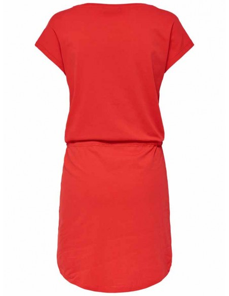 Robe Only rouge Onlmay s/s dress noos