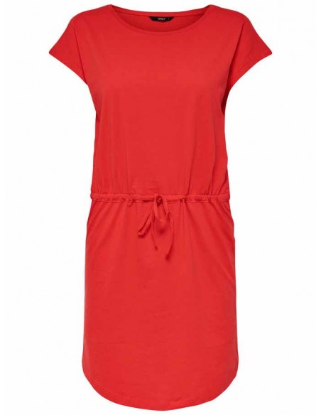 Robe femme Only rouge Onlmay s/s dress noos