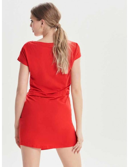 Robe courte Only rouge Onlmay s/s dress noos