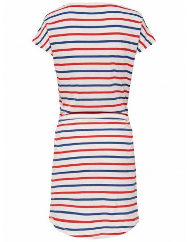 Robe Only blanc/rouge Onlmay s/s dress noos