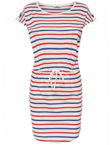 Robe femme Only blanc/rouge Onlmay s/s dress noos