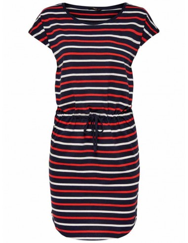 Robe femme Only bleu/rouge Onlmay s/s dress noos