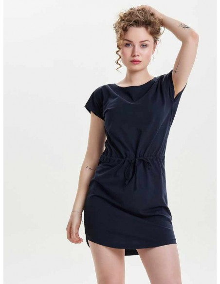 Robe courte Only bleu Onlmay s/s dress noos