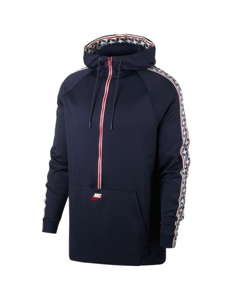 M nsw taped half zip hood poly