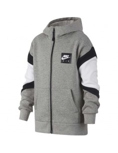 sweat zippe enfant nike gris Nike air full zip hooded 939635-063