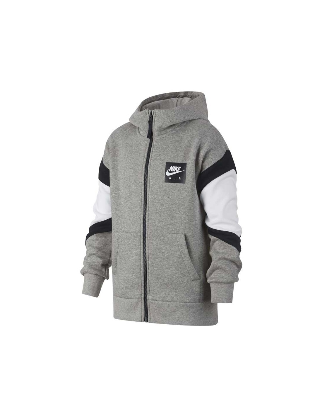 Nike Zippé Dk 063 Zip Hooded Air 939635 Sweat Grey Full q5wOqd