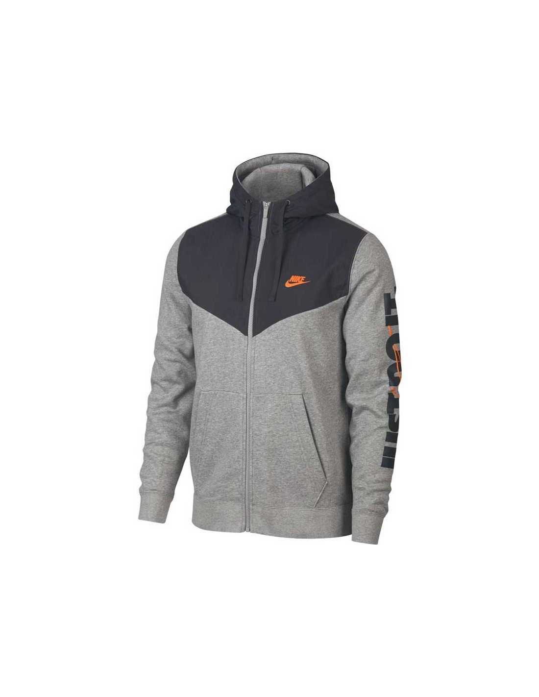 931900 Homme Full Jdi Gris Nike 063 Sportswear Zip Fleece Hoodie Men's Sweat vxZg0dwZ