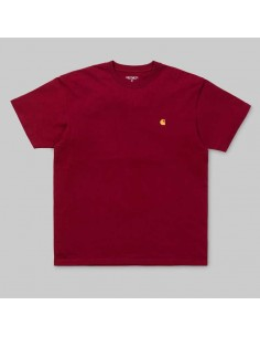 tee-shirt homme carhartt bordeaux S/s chase t-shirt