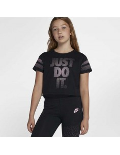 t-shirt fille Nike noir G nsw tee crop jdi 923631-010
