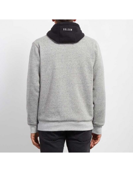 sweat homme Volcom gris Factual lined