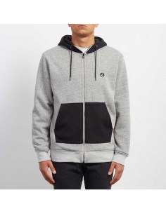 sweat capuche homme Volcom gris Factual lined