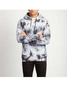 sweat capuche homme Volcom blanc Deadly stones p/o