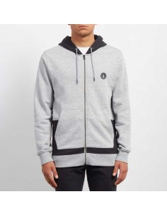 sweat zip homme volcom gris Backronym zip