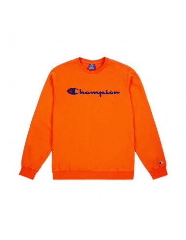 sweat col rond homme Champion orange Crewneck sweatshirt - 212428