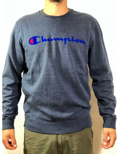 sweat col rond homme Champion bleu Crewneck sweatshirt - 212428