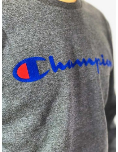 sweat homme Champion bleu Crewneck sweatshirt - 212428