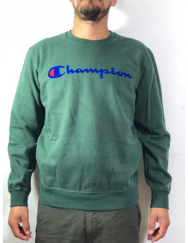 sweat col rond homme Champion vert Crewneck sweatshirt - 212428